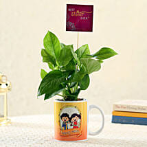 Best Sister Money Plant in Rakhi Mug: Bestselling Plants