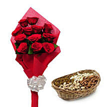 Best wishes for you: Flowers & Dry Fruits for Raksha Bandhan