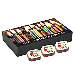 Birthday Gift Box- 6 Personalised Chocolates: Personalised Chocolates for Wife