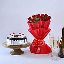 Black Forest and Flowers: Send Valentine Gifts to Surat