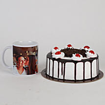 Black Forest Cake & Personalised Mug For Mom: Personalised gifts for Mother's Day