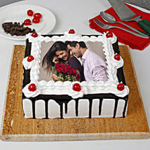 Black Forest Photo Cake- Square: Photo Cakes to Thane