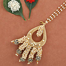 Black & Gold Lumba Rakhi: Send Rakhi to Bulandshahr