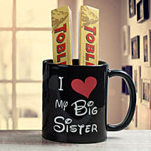Black Mug For Sister: Send Rakhi to Ambernath