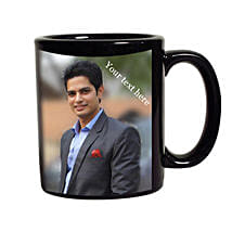 Black Mug Personalized: Personalised Gifts Rampur