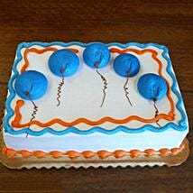 Blue Flying Balloon Cake: Children's Day Gifts