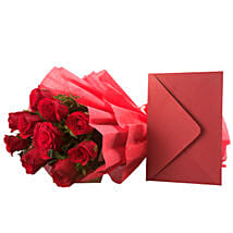 Bouquet N Greeting Card: Birthday Flowers Patna