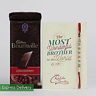 Bournville N Rakhi: Flowers & Chocolates for Rakhi