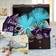 Box Of Chocolates N Dry Fruits: Bhai Dooj Gifts Srinagar