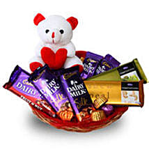 Branded Chocolate Basket: Send Soft toys to Kanpur