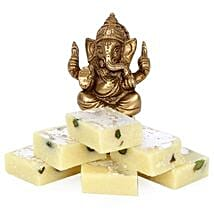 Brass Ganesha With Pista Burfi: Send Diwali Gifts to Gwalior