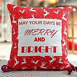 Bright Christmas Cushion: Send Christmas Giftsto Bengaluru