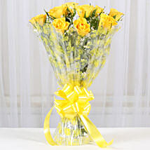 10 Bright Yellow Roses Bouquet: Roses for anniversary