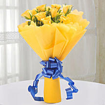 Bright Yellow Roses Bouquet: Wedding Gifts Faizabad