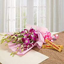 Brighten Their Day Combo: Flowers N Chocolates - birthday