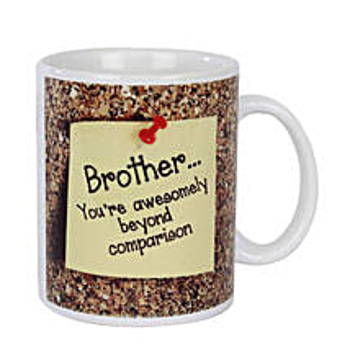 Brother Coffee Mug: Bhai Dooj Gifts Kolkata