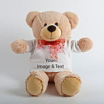 Brown Personalized Teddy: Send Valentine Personalised Gifts