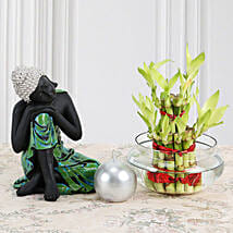 Buddha With Lucky Bamboo: Gifts To Salempur - Kanpur
