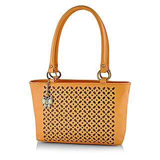 Butterflies Attractive Mustard Handbag: Handbag Gifts