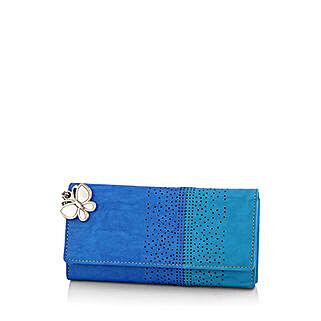 Butterflies Beautiful Blue Wallet: Handbags and Wallets