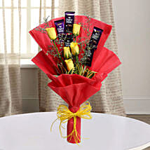 Cadbury With Rose: Send Romantic Flowers for Husband