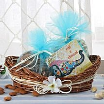 Cane Basket Of Dry Fruits: Send Bhai Dooj Gifts to Srinagar