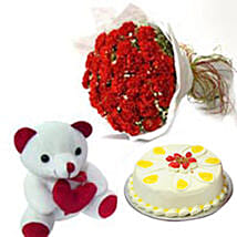 Carnation of Paradise: Flowers & Teddy Bears Pune