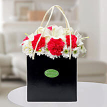 Carnations N Asiatic Lilies Arrangement: Flowers to Noida