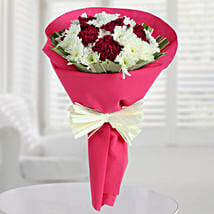 Carnations N Daisy Bunch: Send Flowers to Nellore