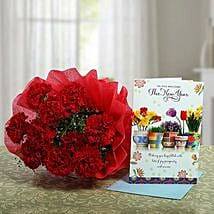 Carnations Rich New Year Wish: New Year Gifts for Friend
