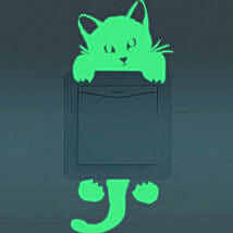 Cat Switch Stickers Set Of 2: Gifts Below 500