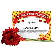 Certificate With Flowers: Send Artificial Flowers to Hyderabad
