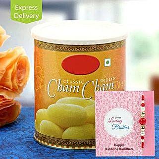 Cham Cham with Rakhi: Send Rakhi With Sweets to Srinagar