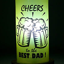 Cheers Dad Lamp: Bottle Lamps