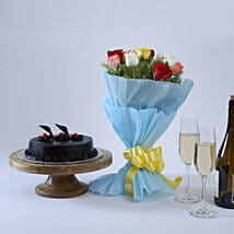 Chocolate Cake and Roses: Send Mothers Day Gifts to Nagpur