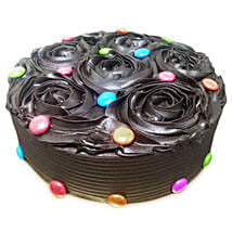 Chocolate Flower Cake: Mothers Day Cakes Ahmedabad