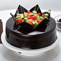 Chocolate Fruit Gateau: New Year Cakes Faridabad