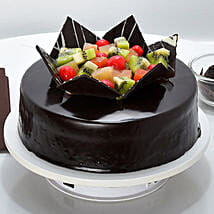 Chocolate Fruit Gateau: Send Chocolate Cakes to Gurgaon