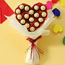 Chocolate Heart Bouquet: Anniversary Chocolates
