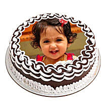 Chocolate Photo Cake: Cake Delivery in Bhatapara