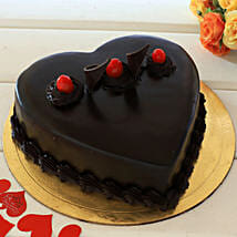 Chocolate Truffle Heart Cake: Heart Shaped Cakes Thane