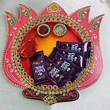 Chocolates In A Wooden Thali: Bhai Dooj Gifts Mangalore