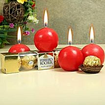 Chocolates With Ball Candles: