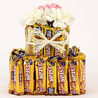 Chocolatey Carnations Premium Arrangement: Chocolates for Mother's Day