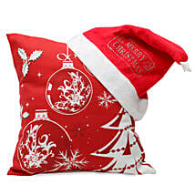 Christmas Cushion and Cap: Send Gifts to Ambedkar Nagar