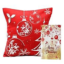 Christmas Cushion and Card: Send Gifts to Ambedkar Nagar
