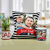 Combo For The Best Dad: Fathers Day Personalised Cushions