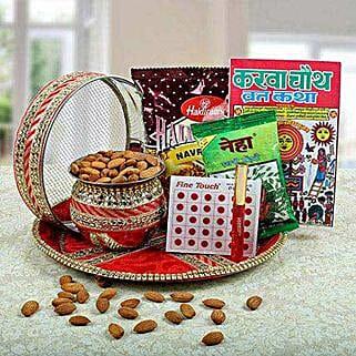 Complete Karwa Chauth Hamper: Karwa Chauth Gifts Hyderabad
