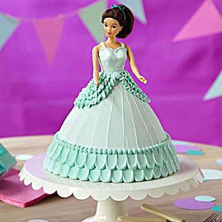 Cool Blue Barbie Cake: Cartoon Cakes
