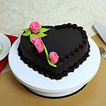 Creamy Heart Truffle Cake: Cakes for Valentines Day